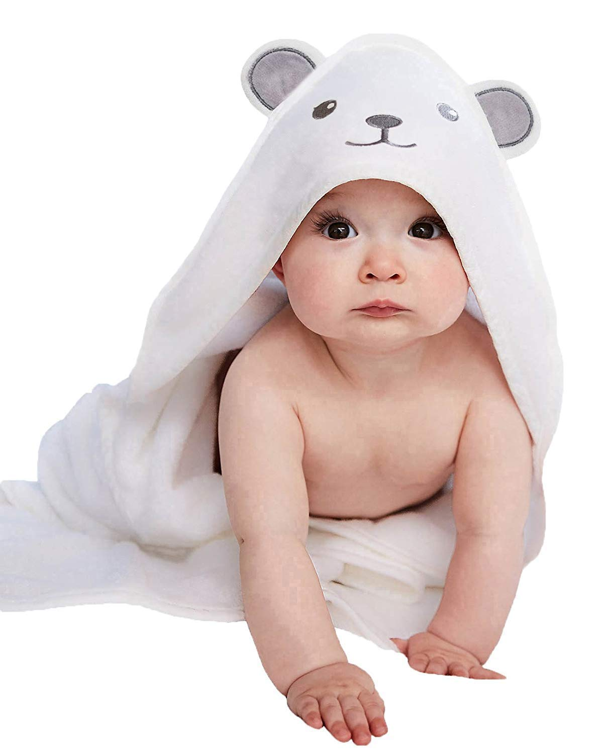 Bamboo Hooded Baby Towel - Ultra Absorbent and Hypoallergenic